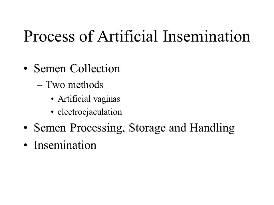 Process of Artificial Insemination