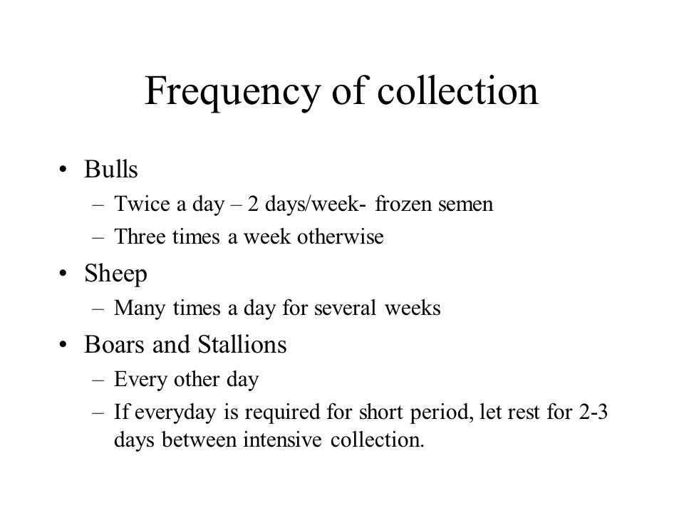 Frequency of collection