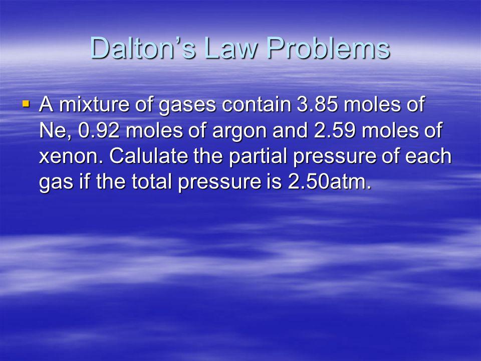 Dalton's Law Problems