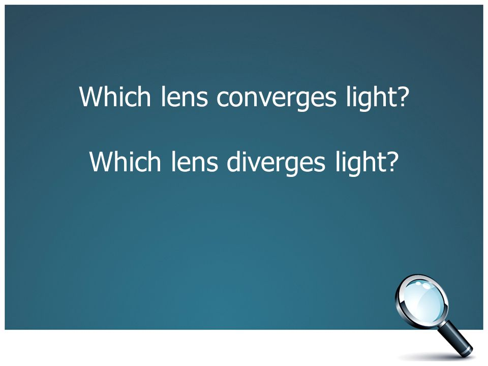 Which lens converges light Which lens diverges light