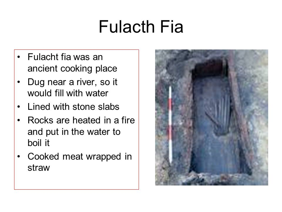 Fulacth Fia Fulacht fia was an ancient cooking place