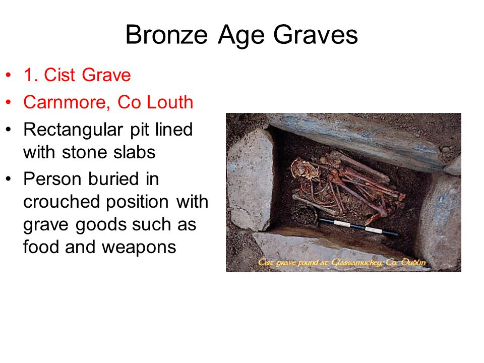 Bronze Age Graves 1. Cist Grave Carnmore, Co Louth
