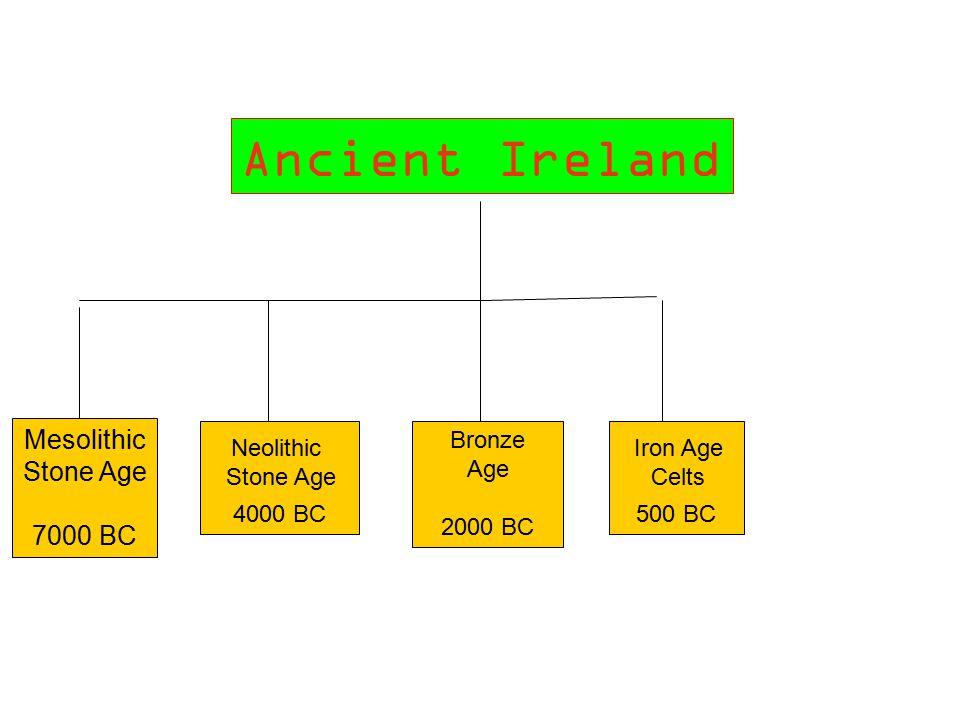 Ancient Ireland Mesolithic Stone Age 7000 BC 4000 BC Bronze Age