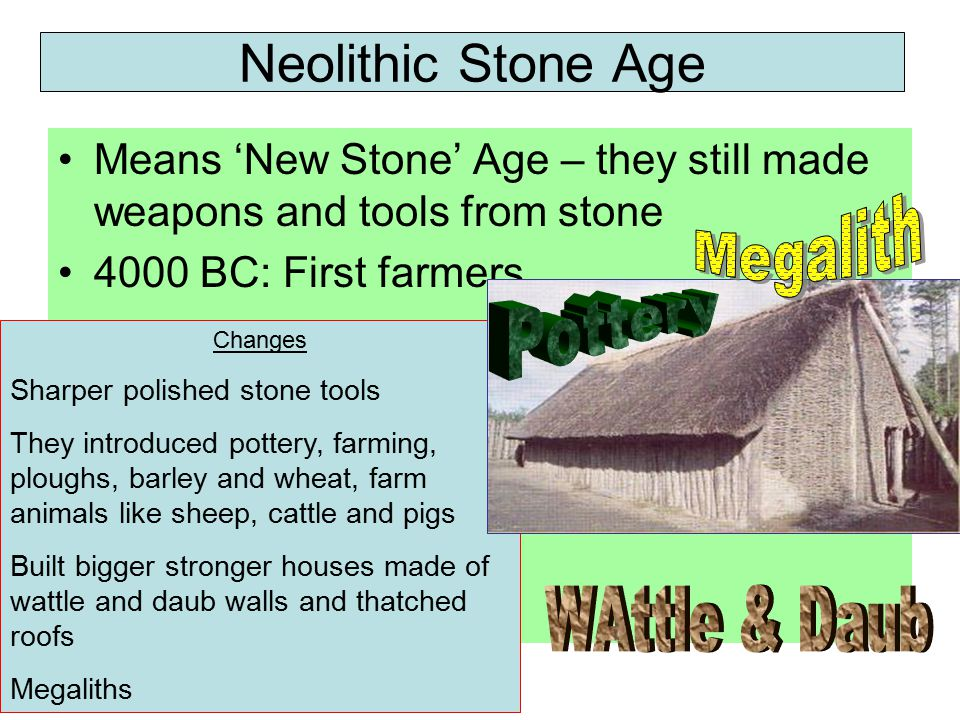 Neolithic Stone Age Megalith Pottery WAttle & Daub