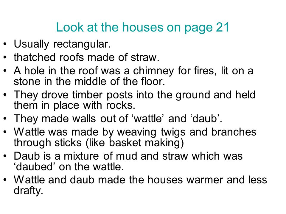 Look at the houses on page 21