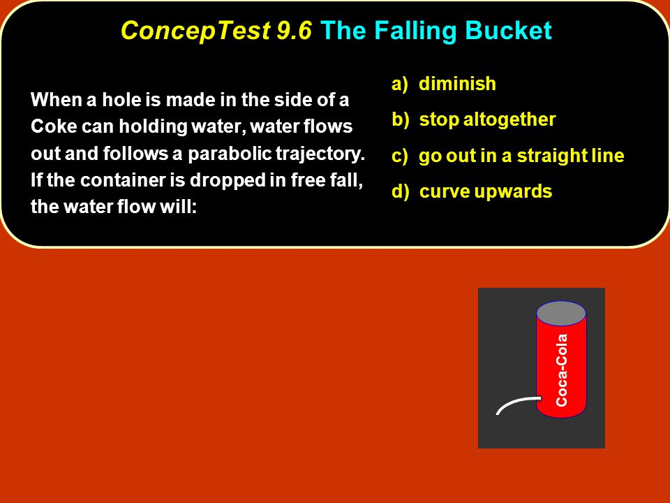 ConcepTest 9.6 The Falling Bucket
