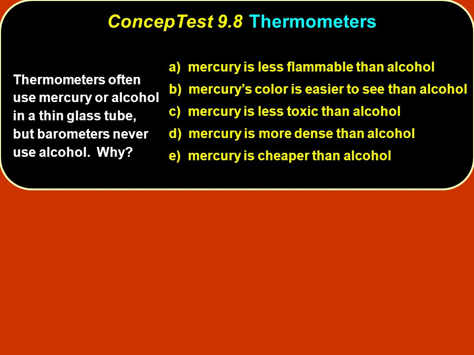 ConcepTest 9.8 Thermometers