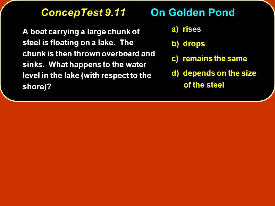 ConcepTest 9.11 On Golden Pond