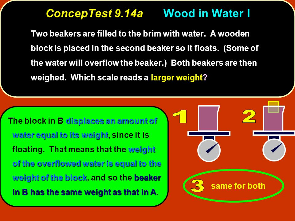 ConcepTest 9.14a Wood in Water I