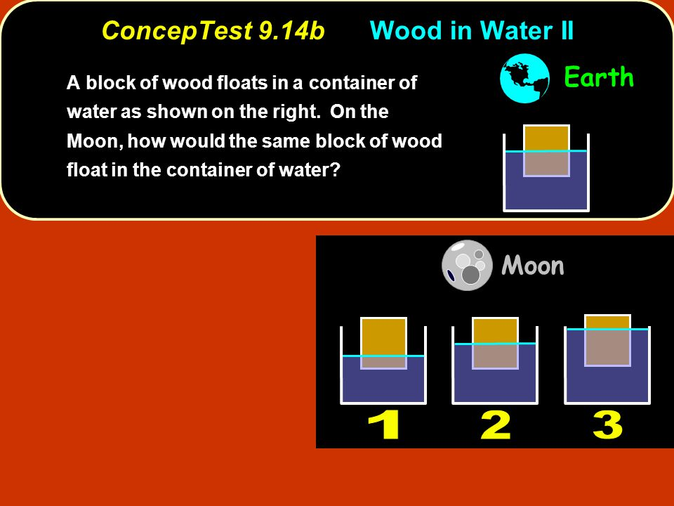 ConcepTest 9.14b Wood in Water II