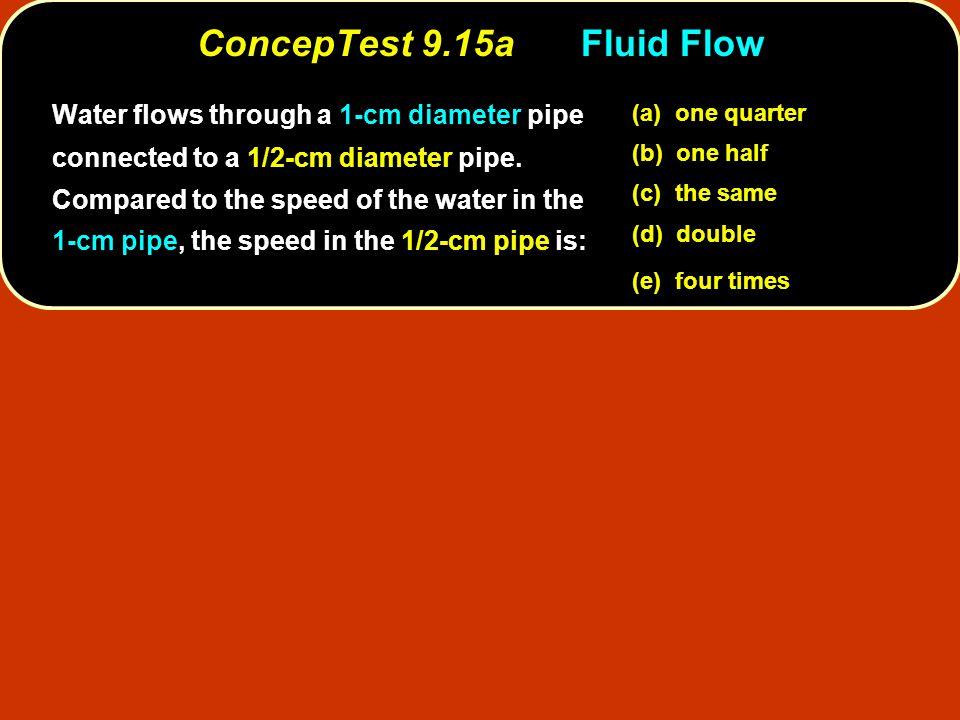 ConcepTest 9.15a Fluid Flow