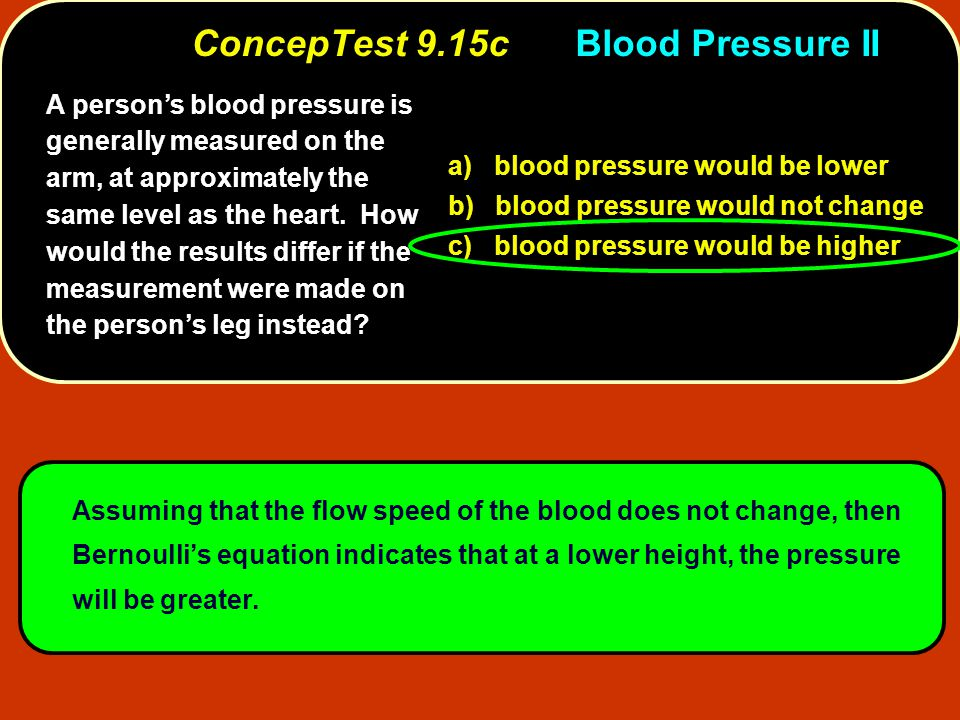 ConcepTest 9.15c Blood Pressure II