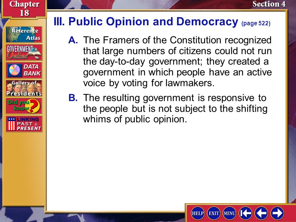 III. Public Opinion and Democracy (page 522)