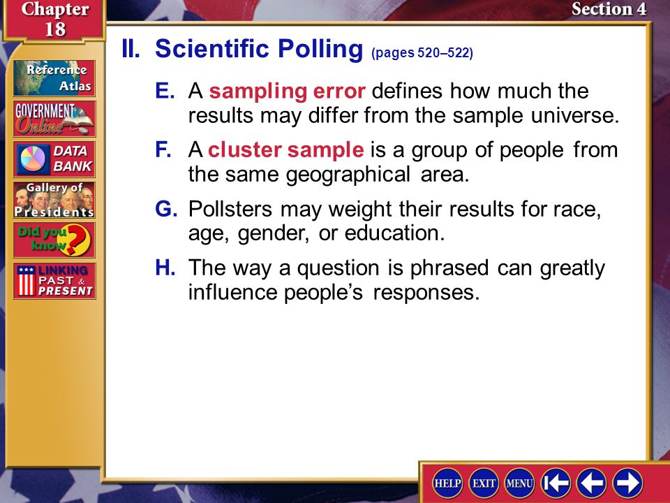 II. Scientific Polling (pages 520–522)