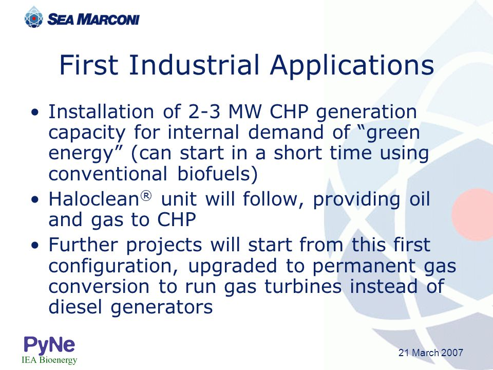 First Industrial Applications