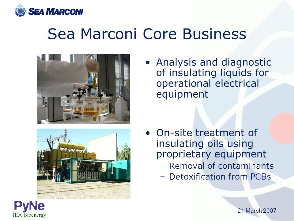 Sea Marconi Core Business