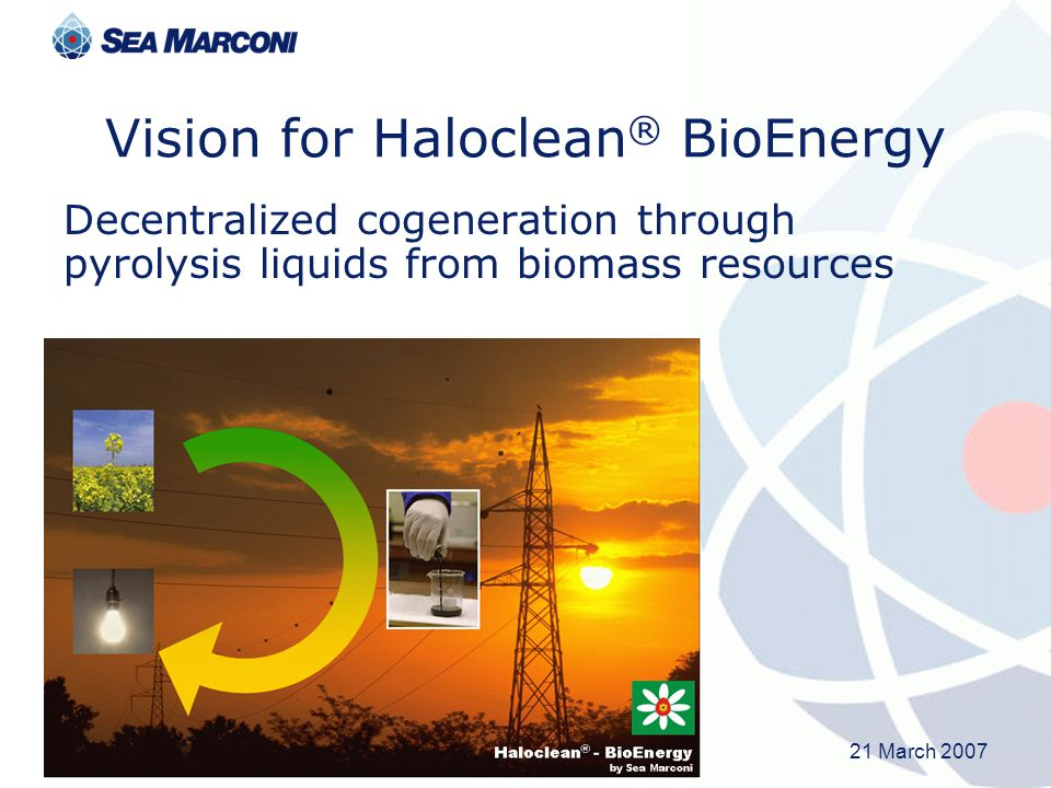 Vision for Haloclean® BioEnergy