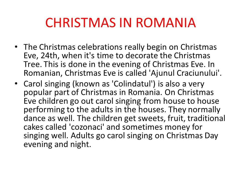 CHRISTMAS IN ROMANIA