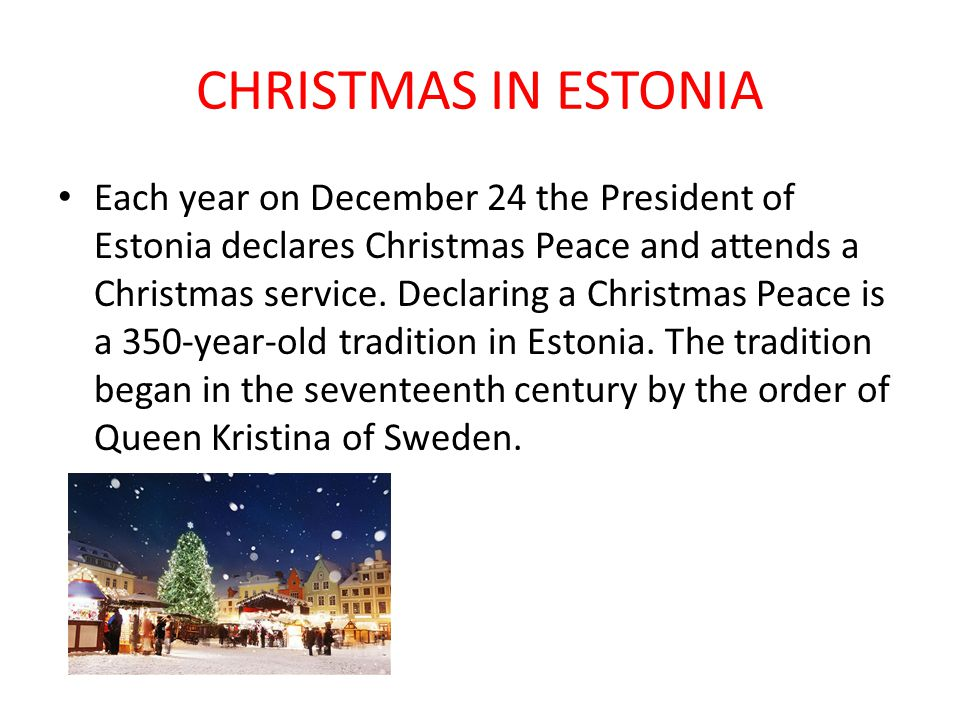 CHRISTMAS IN ESTONIA