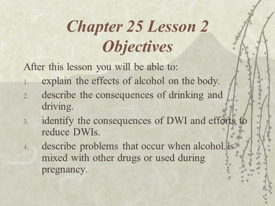 Chapter 25 Lesson 2 Objectives