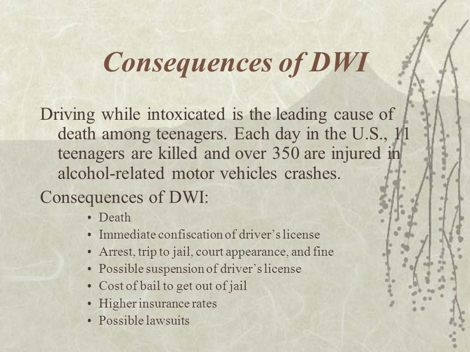 Consequences of DWI