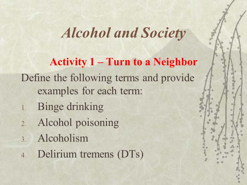 Activity 1 – Turn to a Neighbor