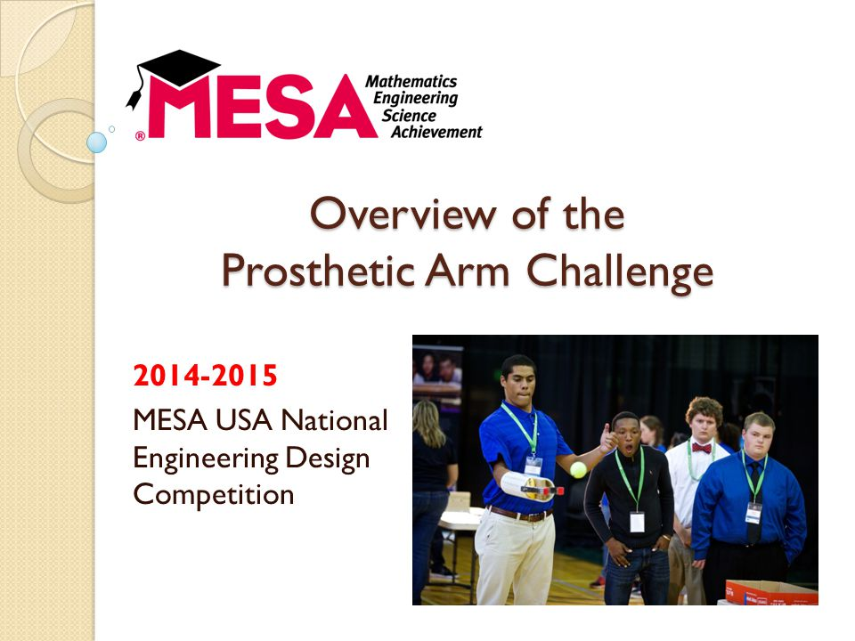 Overview of the Prosthetic Arm Challenge