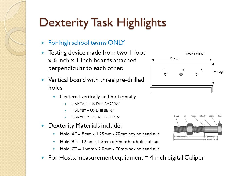 Dexterity Task Highlights