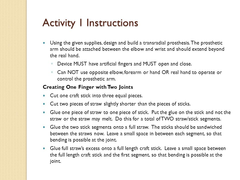 Activity 1 Instructions