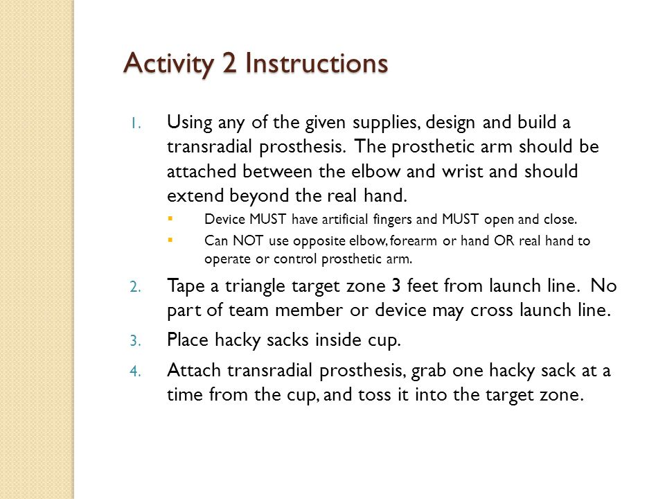 Activity 2 Instructions