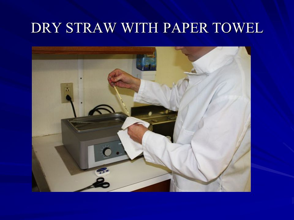 DRY STRAW WITH PAPER TOWEL