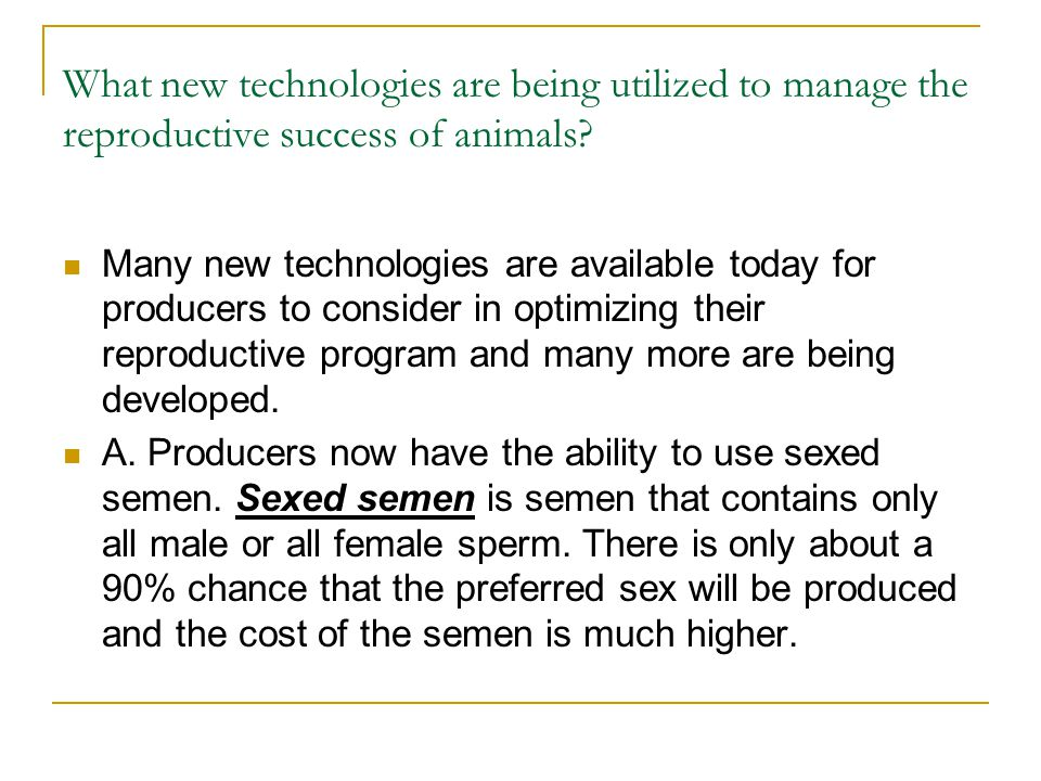 What new technologies are being utilized to manage the reproductive success of animals