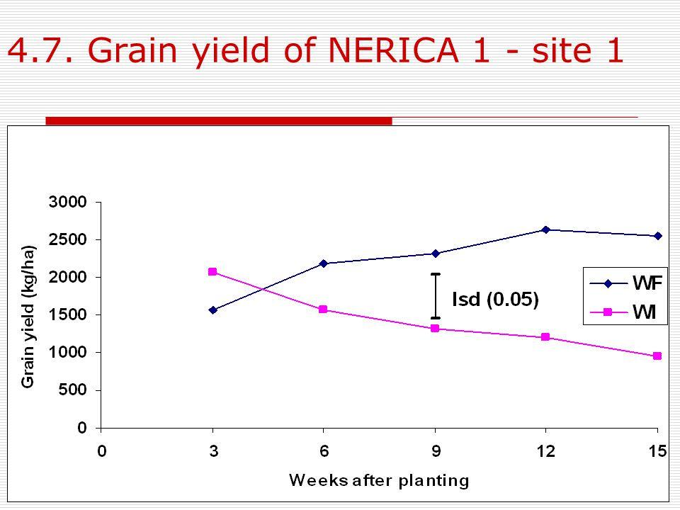 4.7. Grain yield of NERICA 1 - site 1