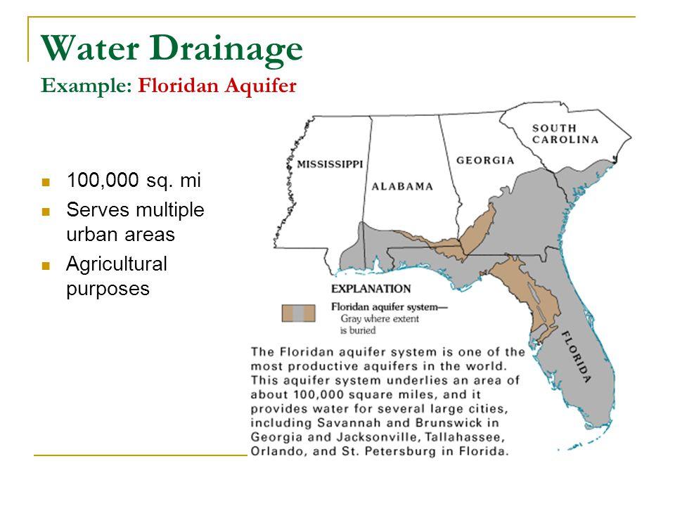 Water Drainage Example: Floridan Aquifer