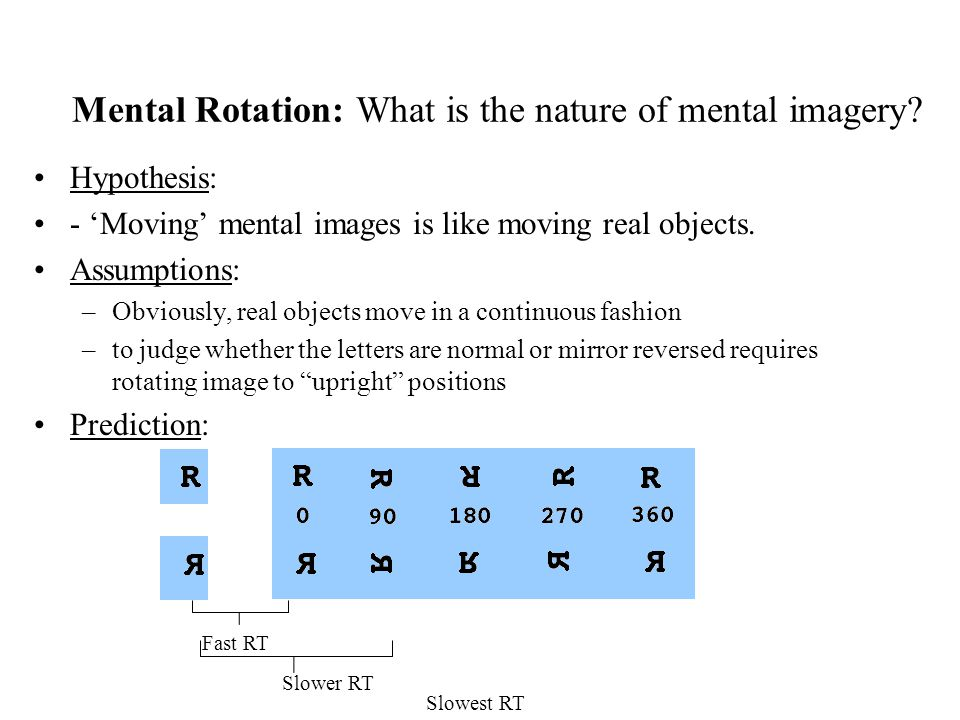 Mental Rotation: What is the nature of mental imagery