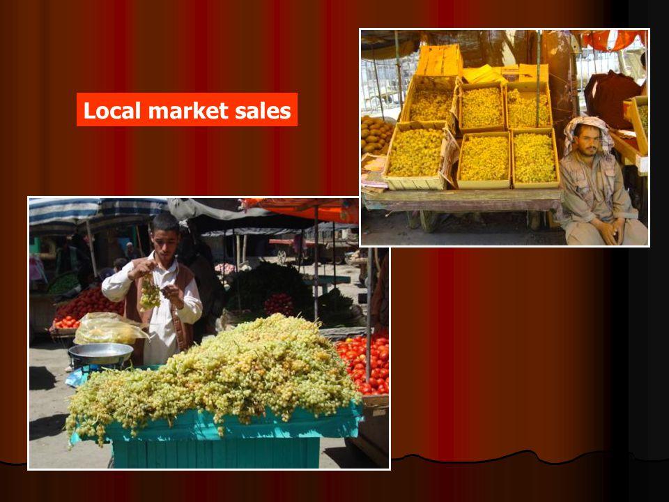 Local market sales
