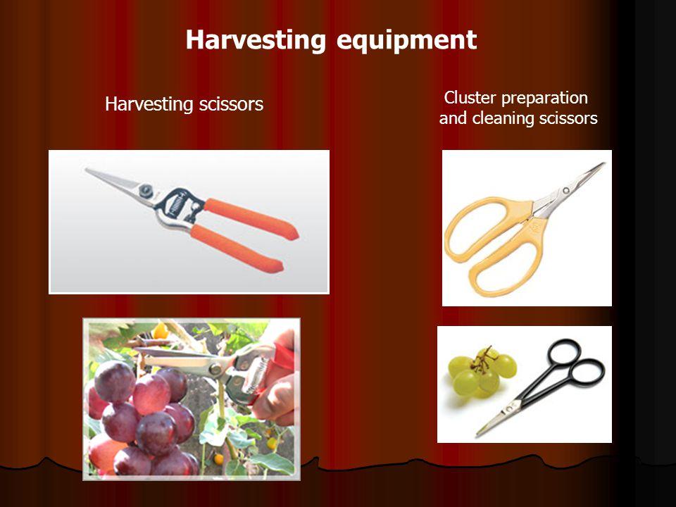 Harvesting equipment Harvesting scissors Cluster preparation