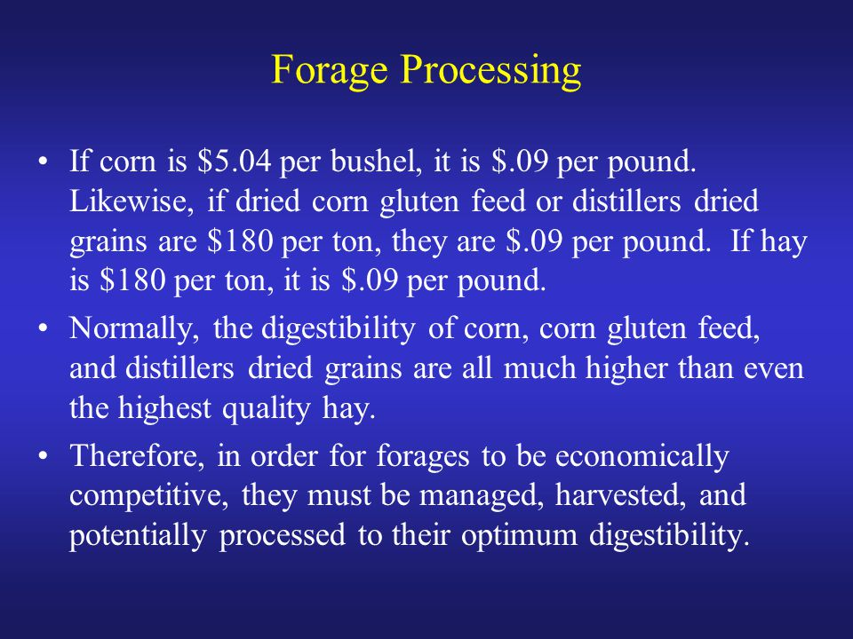 Forage Processing