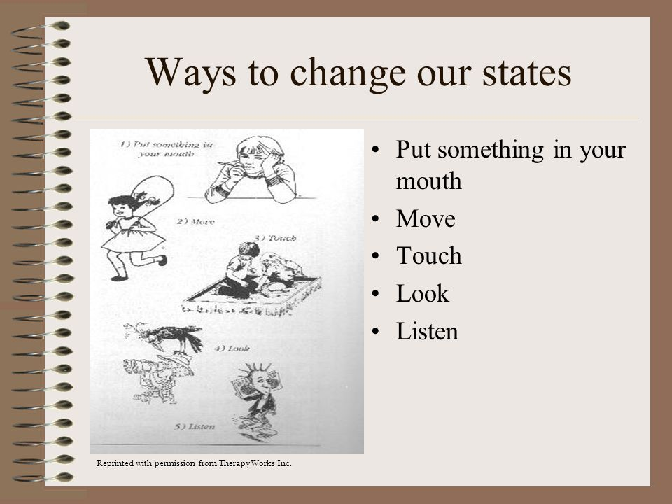 Ways to change our states