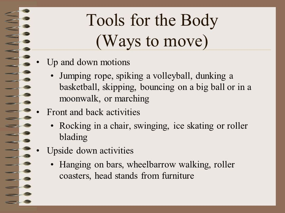 Tools for the Body (Ways to move)