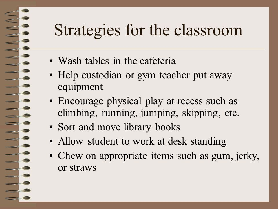 Strategies for the classroom