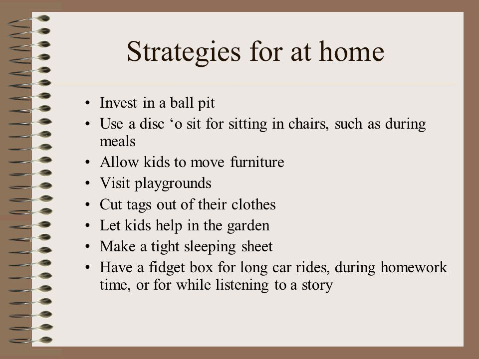 Strategies for at home Invest in a ball pit