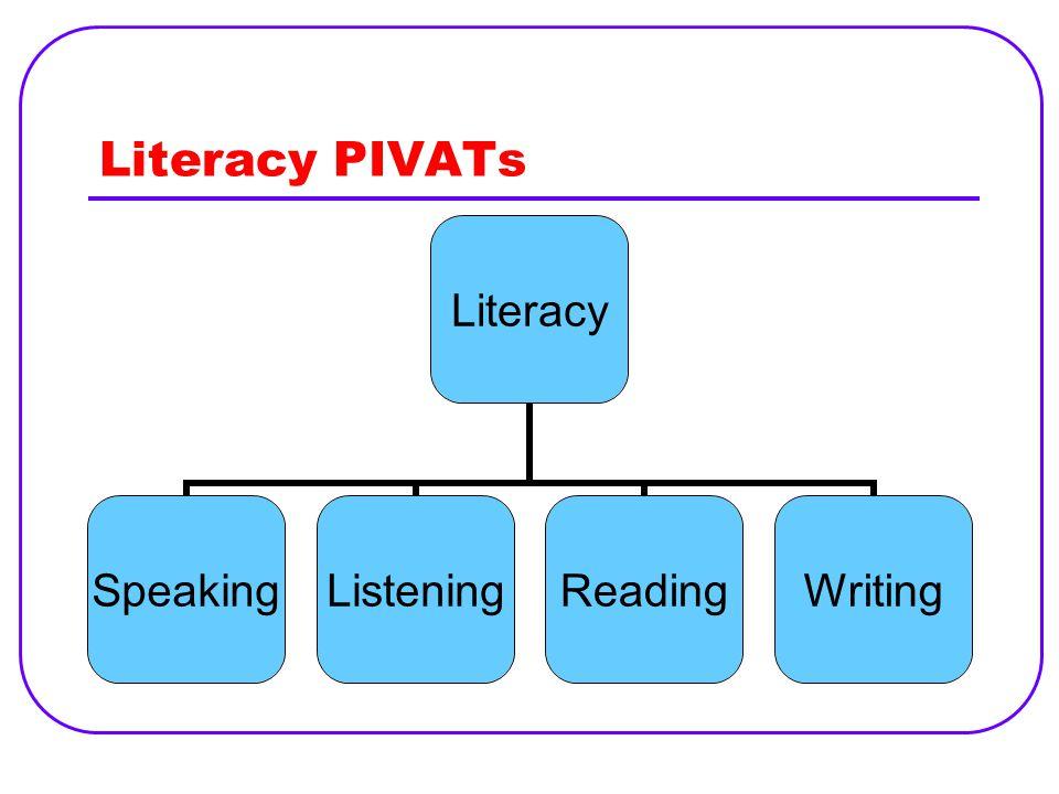 Literacy PIVATs
