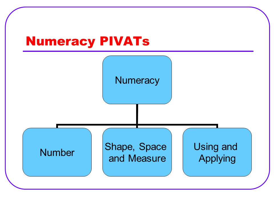 Numeracy PIVATs