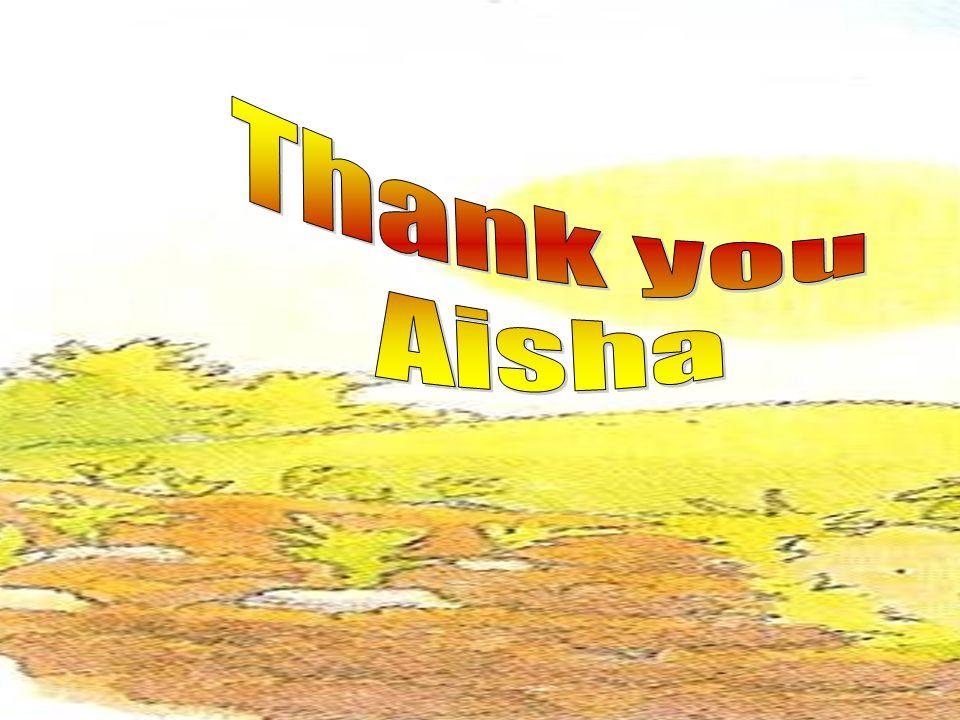 Thank you Aisha