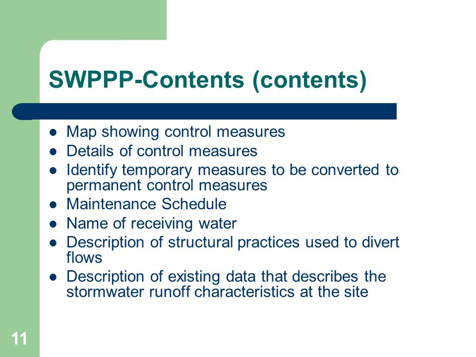 SWPPP-Contents (contents)