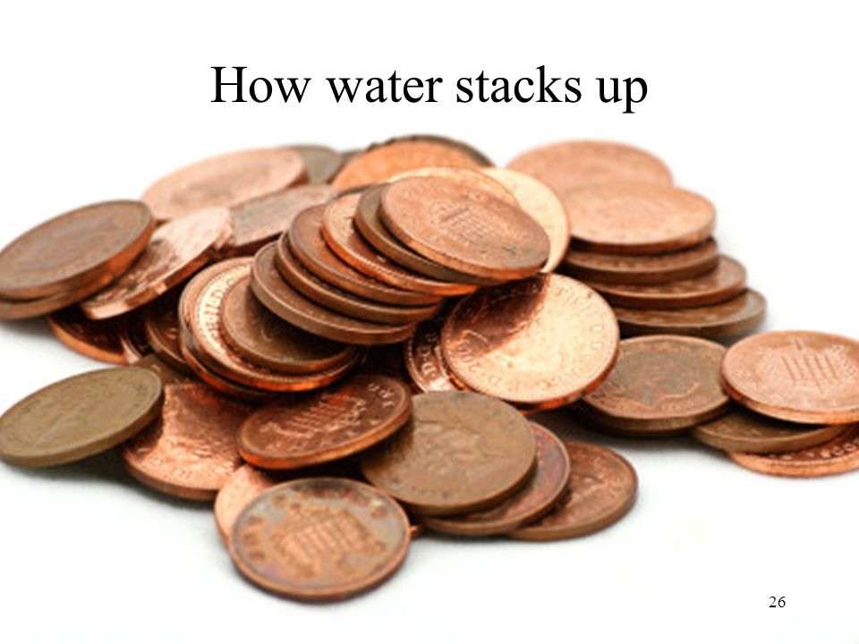 How water stacks up Image: http://www.irishviews.com/blog/tag/pennies/