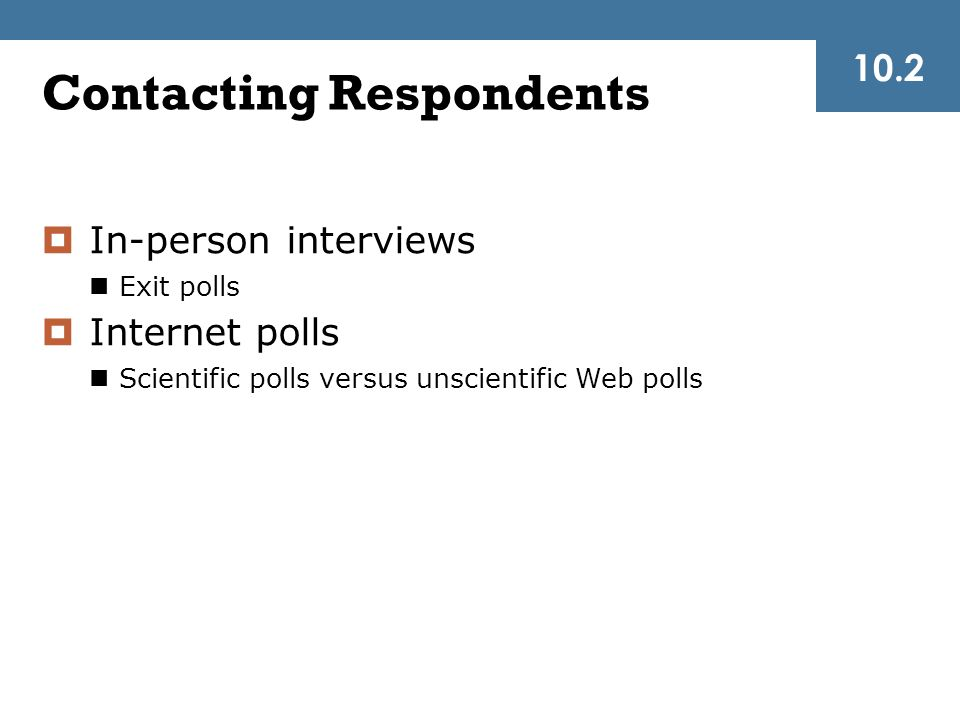 Contacting Respondents