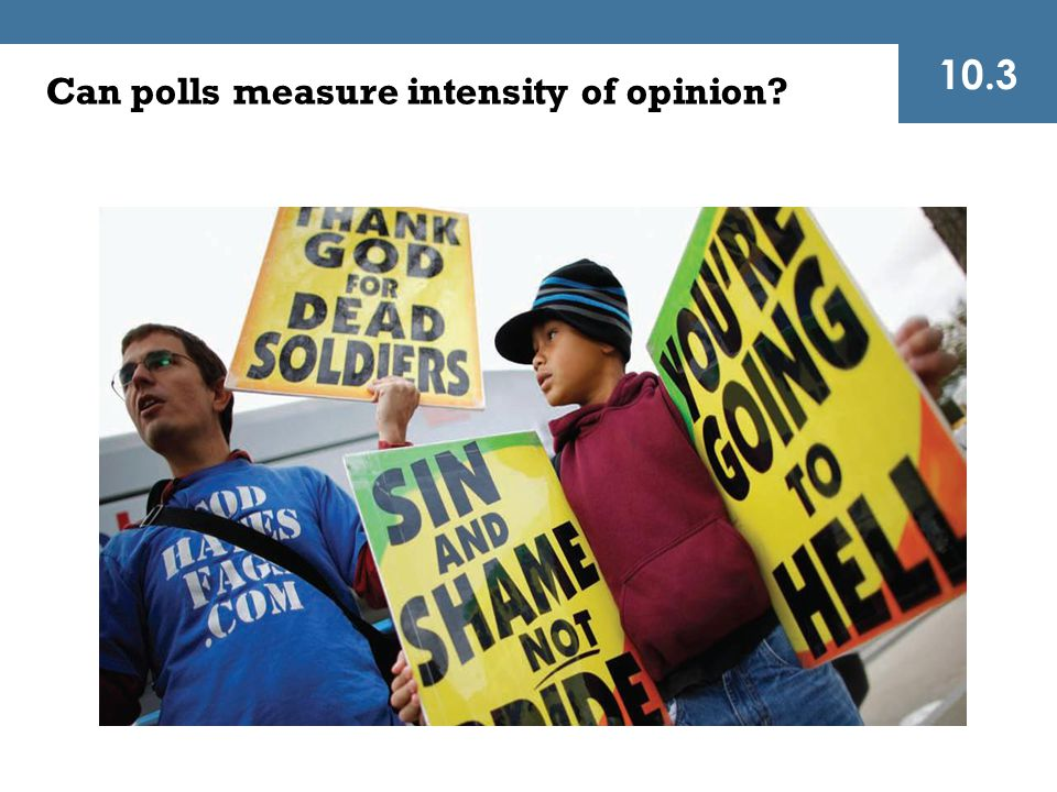 10.3 Can polls measure intensity of opinion
