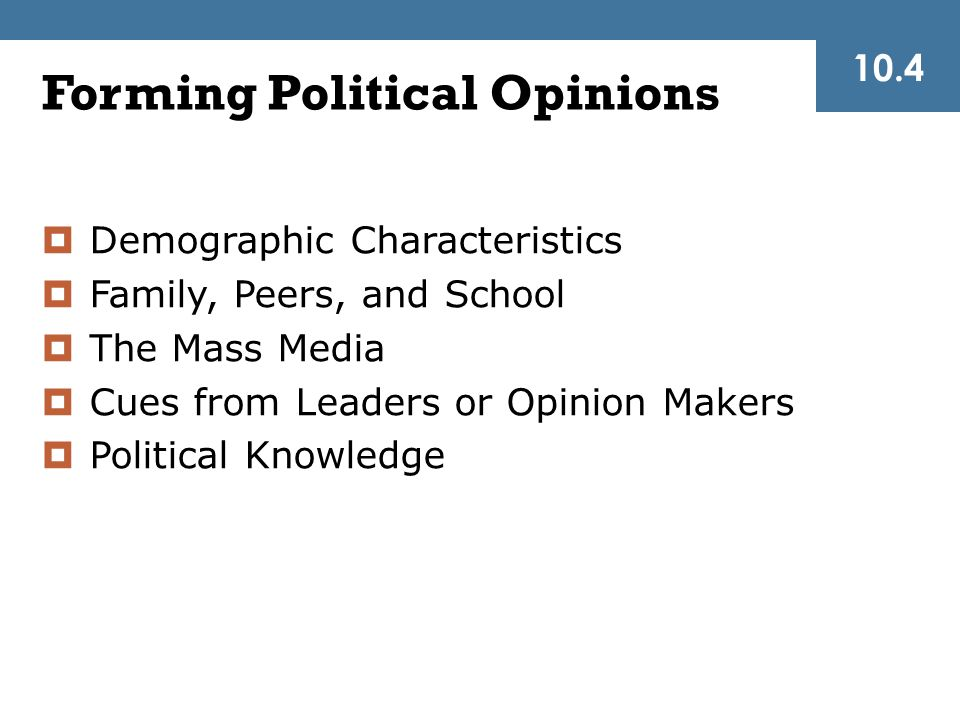 Forming Political Opinions